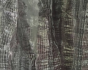 3 meters of chiffon iridescent, very light green collar, extremely pleated fabric, scarf or headscarf set TM1