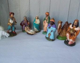 Vintage Nativity Set Figurines