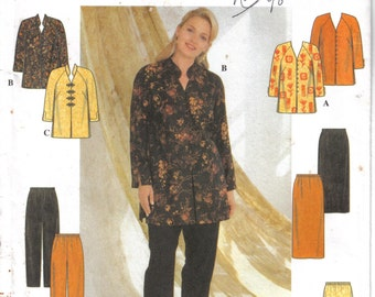 Simplicity Factory Folded Tunic Skirt & Pants Pattern 7829 Size 18-24 Bust 40-46 circa 1997
