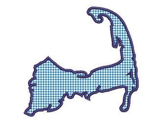 Cape Cod applique embroidery design