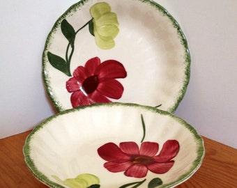 One Blue Ridge Pottery Fruit Bowl Lovely Linda Variant Pattern & Blue ridge dishes   Etsy