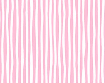 "Baby Pink Stripe Fabric, ""Baby Gone Wild"" by Masha D'yans Design for Clothworks, 100% Cotton sold By-The-Yard, Great for Quilting, Sewing!"