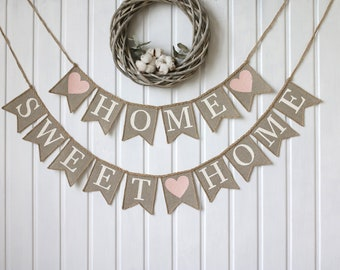 home sweet home banner, Welcome Burlap Banner, home sweet home sign, welcome banner, Home Decor, burlap banner, Welcome Sign