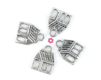 cottage x 5 charm silver 13x17mm (213)