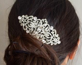 bridal comb, wedding hair comb, wedding comb, bridal hair comb, wedding hair accessories, vintage comb, crystal comb, bridal jewelry