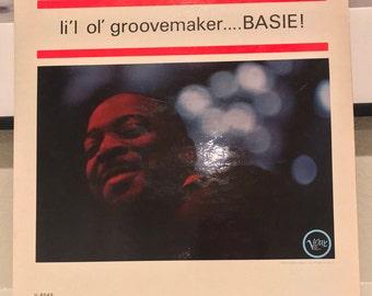 """Count Basie """"Li'L Ol' Groovemaker....Basie!"""" Vinyl Record LP Verve Music by Quincy Jones 1963"""