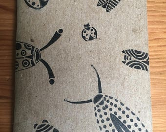 Journal: Hand-Illustrated Pocket Notebook - Bugs