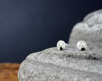 Little Illustrated mountain ear studs