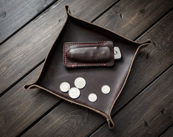 Valet Tray, Catchall, Desk Organizer, Catch All - Chocolate