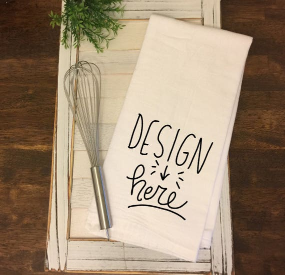 Kitchen Mock Up Flour Sack Towel Mock-up Tea Towel Mock-up