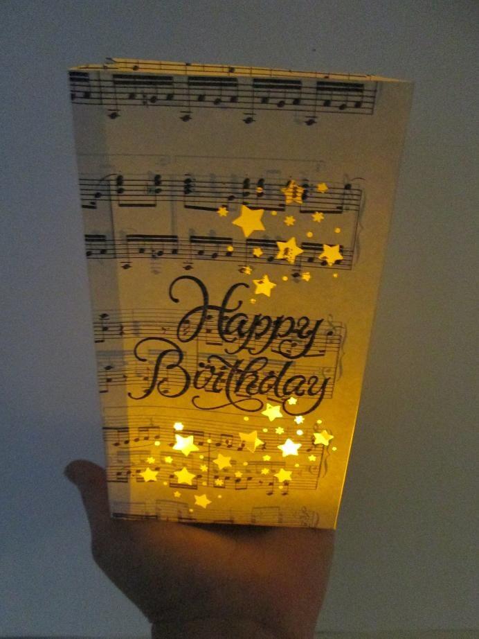 Happy Birthday Luminary Bags Sheet Music Party Decor Luminaries To You