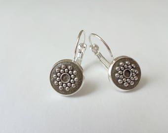 Lever back earrings - Sterling silver drop earrings - Sterling silver dangle earrings - Concrete earrings - Concrete jewelry -