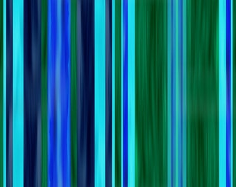 Hand Created Stripes Blue Indigo Green Velvet Upholstery Fabric Fiber Art