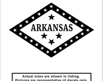 Arkansas State Flag Logo v1 Vinyl Decal Patriot America Car Truck Window Laptop