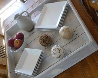 Large recycled wood tray