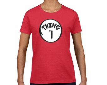 Thing 1, Thing One Women's Fashion Round Neck T-Shirt