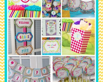Carnival Ride - FULL Printable Party Collection
