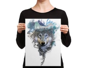 Canvas Print - Wolf - Spirit Animal