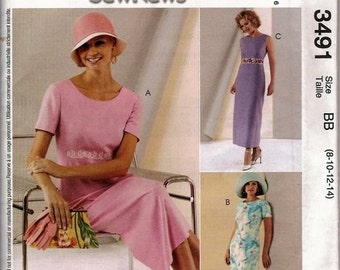 Sewing Pattern McCall's 3491 Dress Bust 30-36 inches Uncut Complete FF