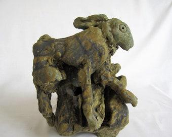 Hare Leaping/Unique Ceramic Hare/Hare in Flight