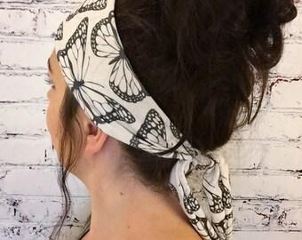 Monarch - Black & White - Eco Friendly Yoga Headband