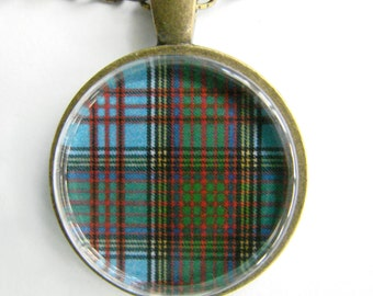 ANDERSON CLAN Scottish Tartan Necklace -- Scottish Wedding Necklace, Bridesmaids, Hen Night, Family plaid, Friendship token