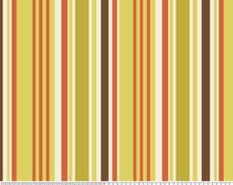 Indian Summer by Riley Blake, Stripe in Green - 1 Yard - Reduced
