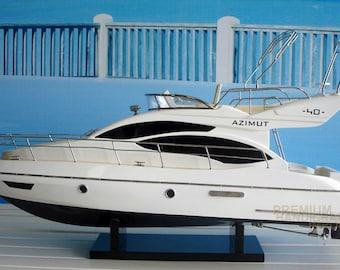 Handcrafted Azimut 40 Modern Yacht Boat Model