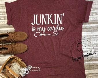 JUNKIN' is MY CARDIO t-shirt