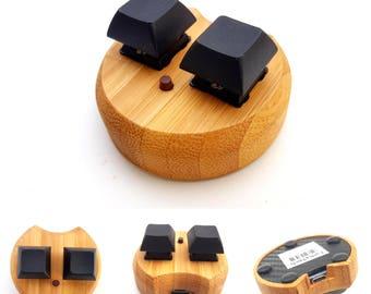 FTmini ver1. mini keyboard keypad 3key for osu! LED (eco bamboo)