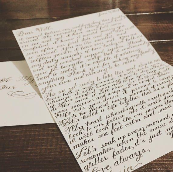 Wedding Day Letter Custom Handwritten Love Letter
