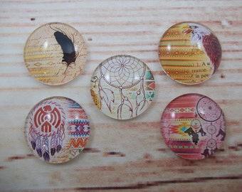 Native American Magnets, Dreamcatcher Fridge Magnets, Set of 5, Kitchen Decor, Hostess Gift, Housewarming Gift, Office Decor, Locker Magnet