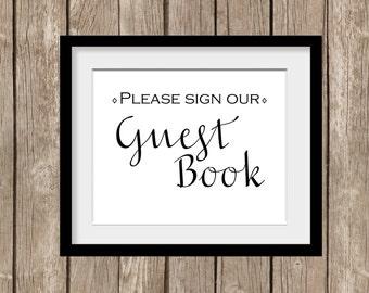 S'il vous plaît signe que notre livre d'or de mariage impression numérique du livre commentaires clients souvenirs signalisation signe mariée bricolage vous-même imprimer cadre