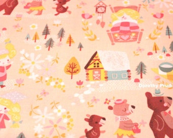 FABRIC GOLDILOCKS and the Three BEARS  by Riley Blake   We combine shipping