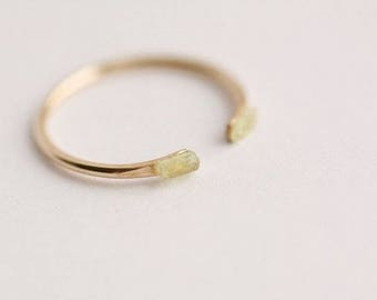Adjustable Raw Green Kyanite Stackable Ring. Raw Kyanite Ring. Kyanite Ring. Green Kyanite Ring. Stacking Ring. Kyanite Stacking Ring.