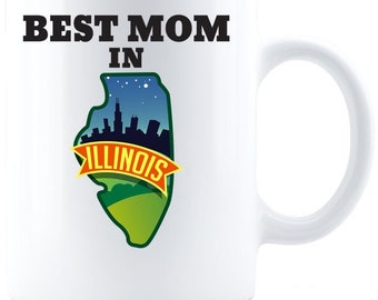 Best Mom in Illinois - Coffee Mug - White