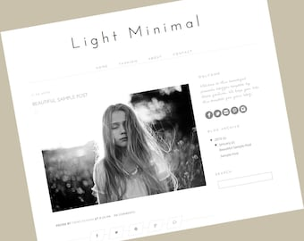 Blogger Template - Light Minimal