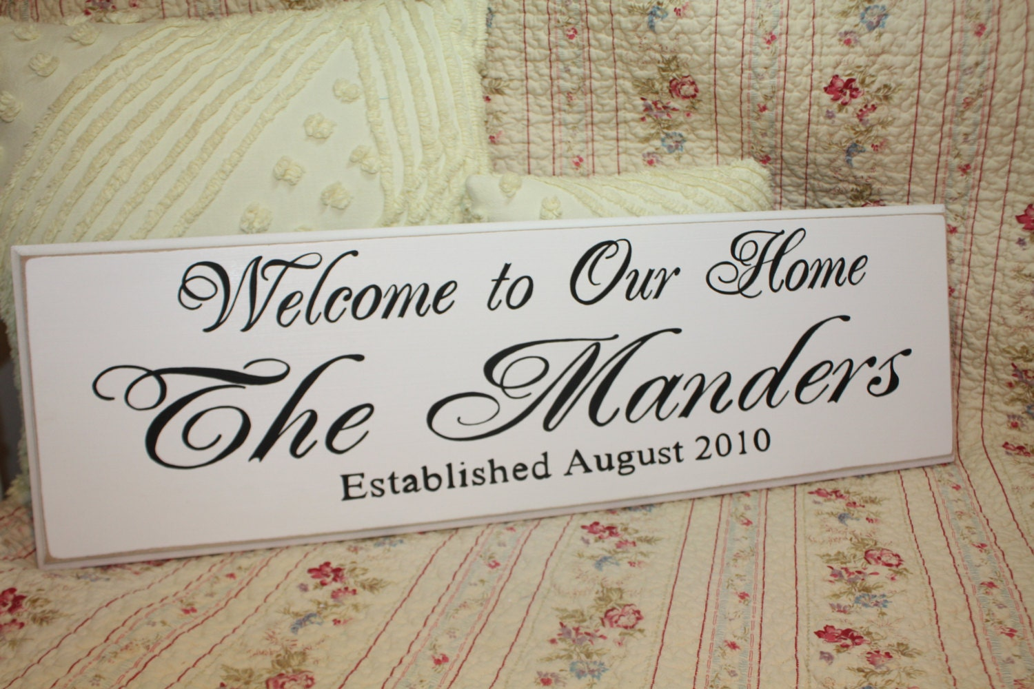 The Custom Family WELCOME to our HOME sign Est. Personalized
