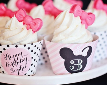 Minnie Mouse Party Cupcake Wrappers - Printable