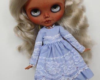 Lavender Blue Princess dress for pullip blythe azone momoko obitsu and similar dolls