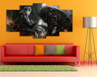 Fire Keeper, Dark Souls Wall Art, Dark Souls Canvas, Fire Keeper canvas, Dark Souls, Dark Souls Print, Fire Keeper Print, Dark Souls Art