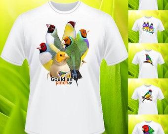 Bouquet of gouldians T-shirt