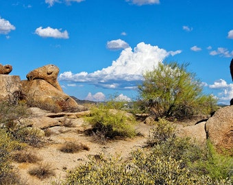 Balanced Rock - The Boulders, N Scottsdale AZ, custom art, photography, landscape, Lost Dutchman Mine, wall art, canvas art