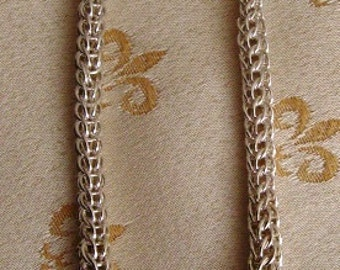 Silver Plated Graduated Persian Necklace