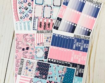 KAWAII Planner Stickers l Vertical Stickers l Full Kit l Full Weekly Kit l Planner Kit l Summer Weekly Kit l Summer Stickers l Kawaii Kit