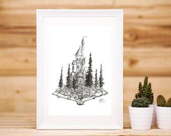 The Beast's Castle Print