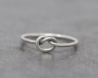Sterling Silver Knot Ring|Sterling Silver Love Knot Ring|Infinity Knot Ring|Minimalist Ring|Bridesmaids Ring|Bridesmaids gift|Gift for Her