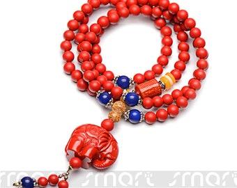 1PC Red Cinnabar 5 6 7 8mm Men's Women Beads Bracelet Buddhist Lucky Handmade