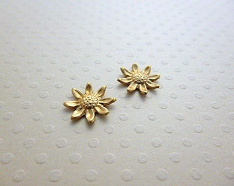 Set of 2 prints Fleur gold 11 mm - PMCD 1070
