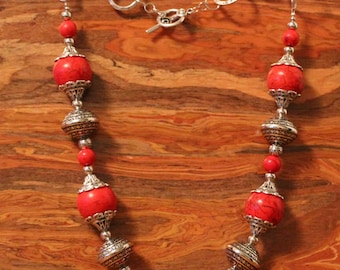SALE:Red and Bold Beauty Necklace